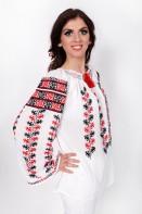 Ie romaneasca maneca lunga Doinita bluza traditionala lucrata manual zona Oltenia