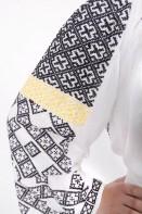 Ie romaneasca In Furca brodata manual cu fir negru bluza traditionala romaneasca