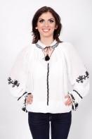 Ie romaneasca Goanga bluza traditionala romaneasca brodata manual cu fir negru zona Ardeal