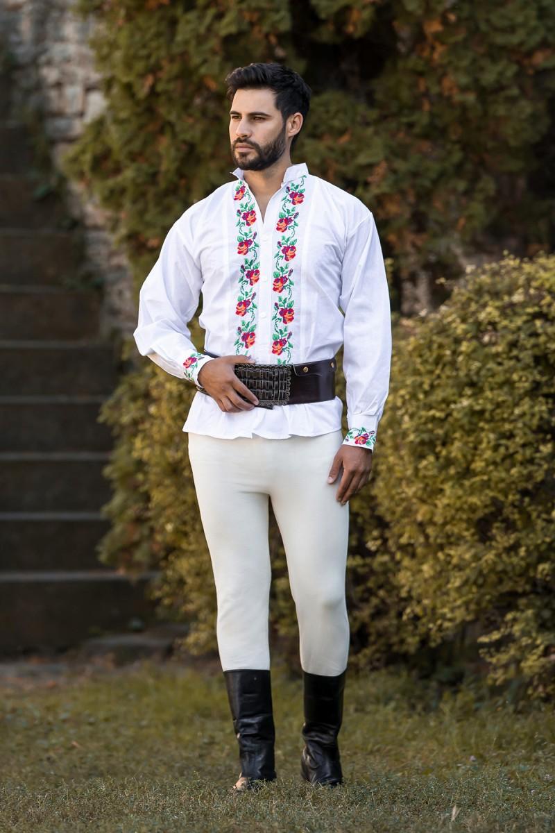 Camasa barbateasca traditionala Trandafirul zona Banat