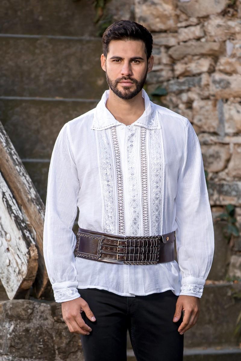Camasa barbateasca traditionala Tismana zona Gorj