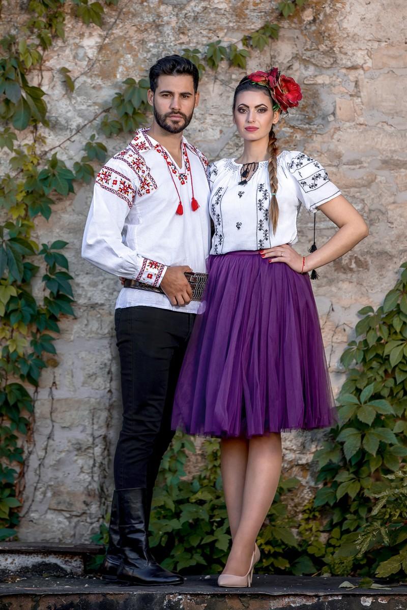 Ie Traditionala Romaneasca Cocosul Negru zona Muntenia