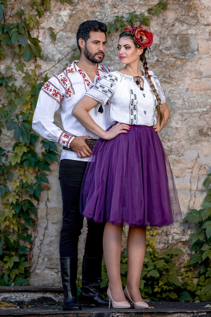 Camasa barbateasca traditionala Calusari zona Oltenia