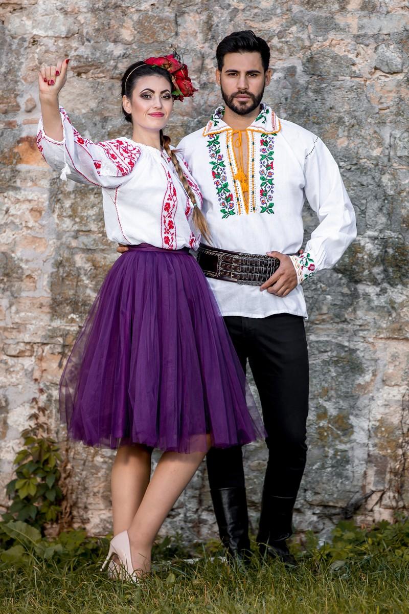 Camasa barbateasca traditionala Sucevita zona Moldova