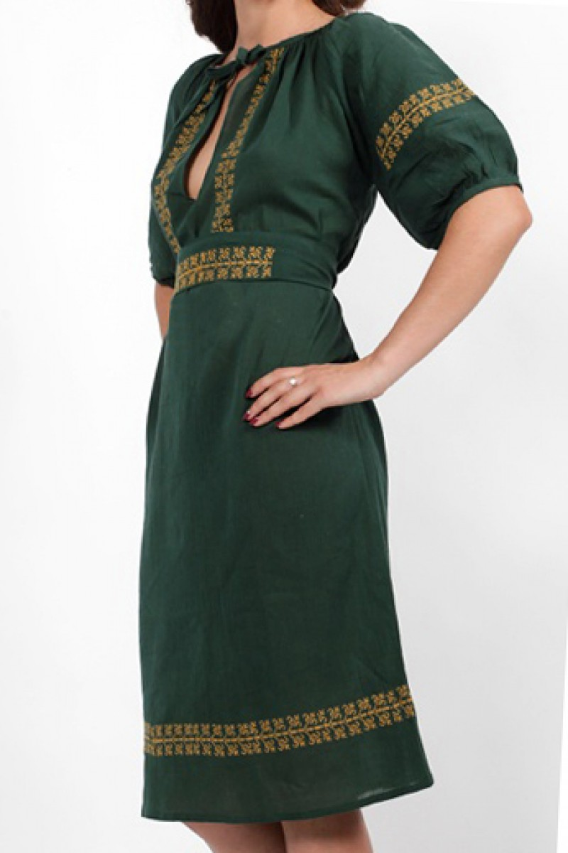 Rochie traditionala stilizata model Lacramioara panza topita
