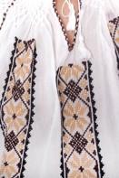 Ie romaneasca maneca lunga Ana fire multicolore bluza traditionala lucrata manual