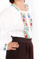 Ie romaneasca maneca lunga Dochia multicolora bluza traditionala lucrata manual