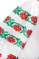 Ie romaneasca maneca lunga Doina motive florale lucrata manual