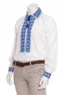 Camasa barbateasca traditionala model in S Albastru