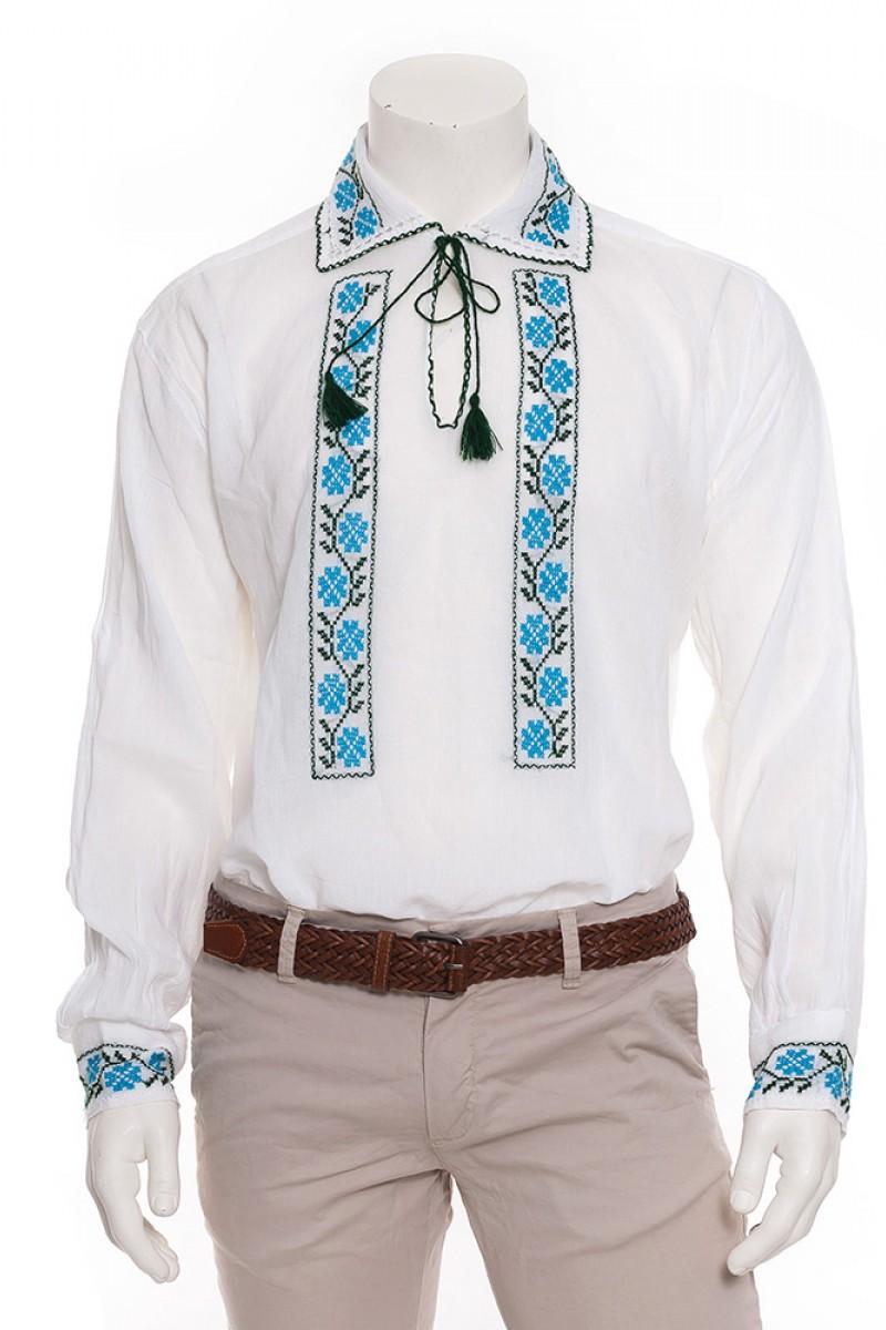 Camasa barbateasca traditionala Floare de Cicoare