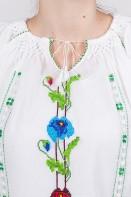 Ie romaneasca Flori de Mac multicolora bluza traditionala brodata manual zona Banat