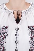 Ie romaneasca maneca lunga Coloana brodata manual bluza traditionala zona Banat