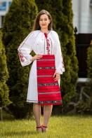 Costum popular autentic floare de mac zona Oltenia