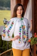 Ie romaneasca maneca lunga Floare de camp lucrata manual